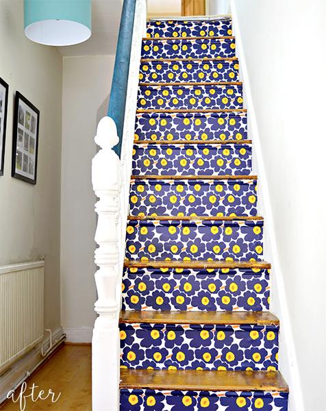 marimekko-staircase-makeover