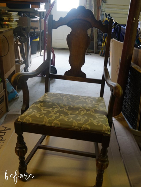 white-and-aqua-chair-before