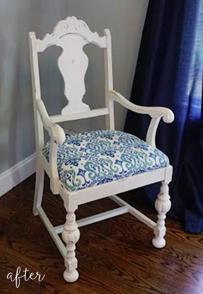white-and-aqua-chair