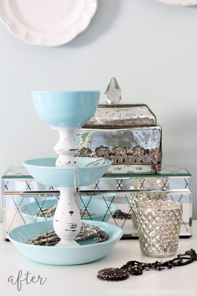 jewelry-tower-from-thriftstore-dishes