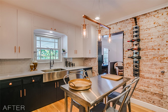 1930s Navy and Copper Kitchen Home Renovation