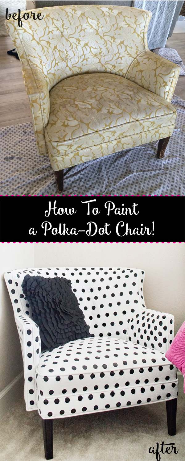 Completely new How to paint polka-dot upholstery! - Better After JQ25