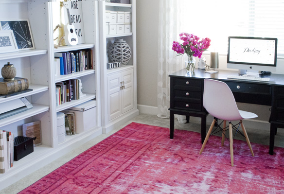 Incroyable Pink Rug Office