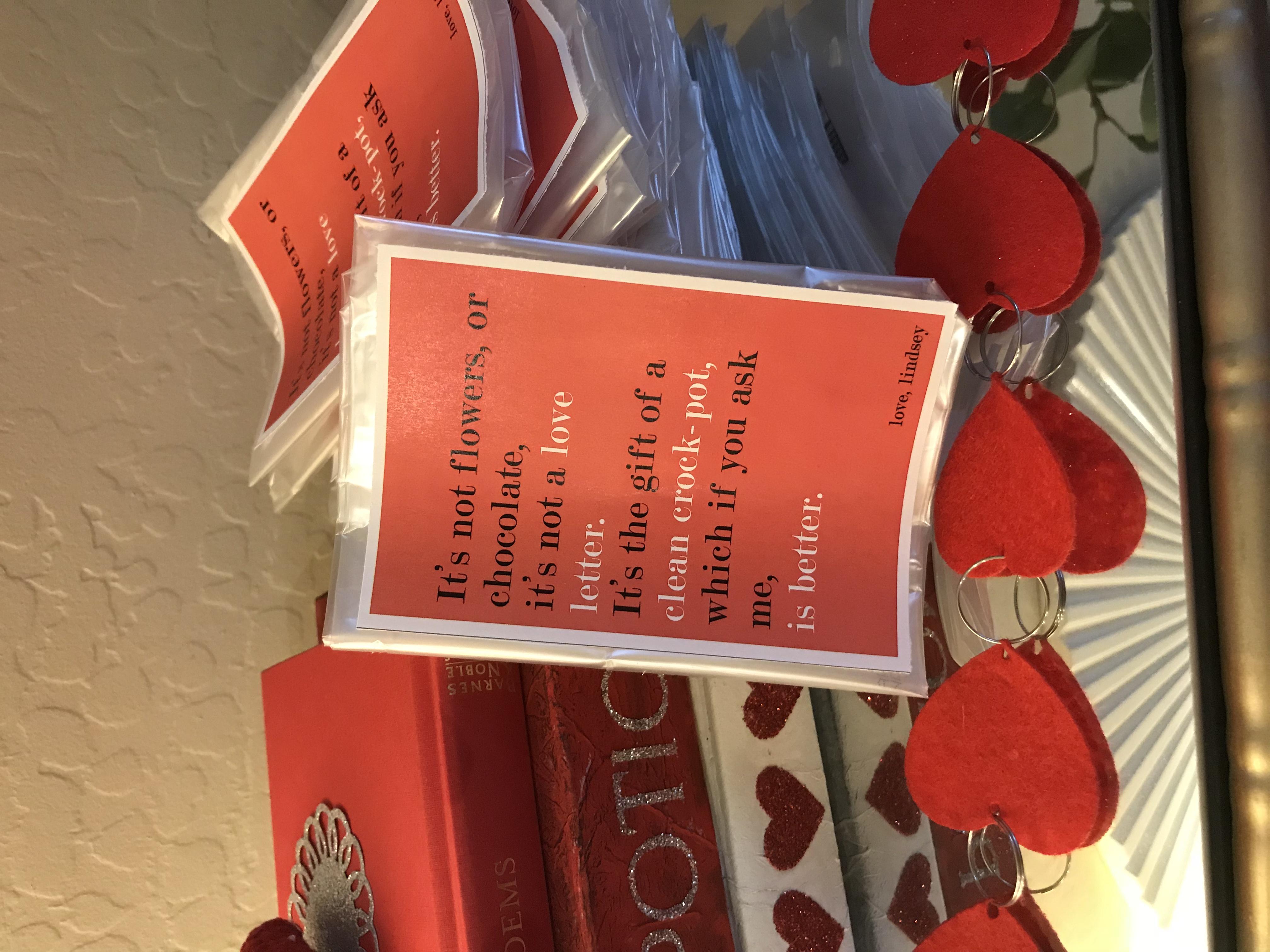 crockpot liner valentine funny poem  better after